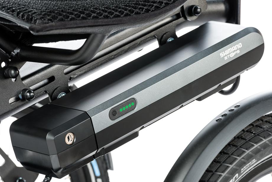 accu voor elektrisch fietsen op de cortes