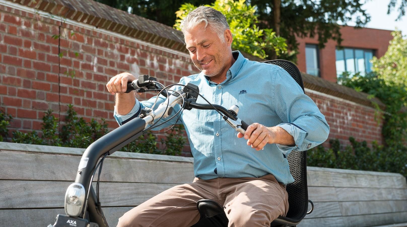 Driewieler fiets voor ouderen