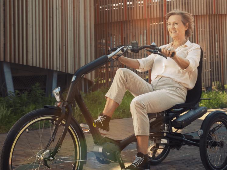 Senioren fietsen